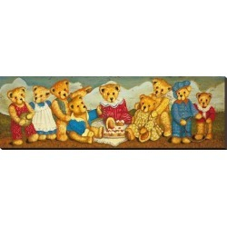 Stretched Canvas Print: Picnicking by Sean Aherne: 16x48in found on Bargain Bro India from Art.com for $182.00