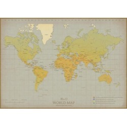 Art Print: Vintage World Map Wall Art by The Vintage Collection: 20x27in found on Bargain Bro from Art.com for USD $22.80