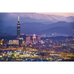 Photographic Print: Taipei, Taiwan City Skyline. by SeanPavonePhoto: 24x16in