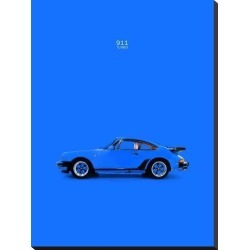 Stretched Canvas Print: Porsche 911 Turbo Blue by Mark Rogan: 32x24in found on Bargain Bro from Art.com for USD $95.00