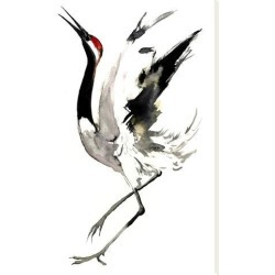 Stretched Canvas Print: Japanese Crane 2 by Suren Nersisyan: 32x24in found on Bargain Bro India from Art.com for $135.00