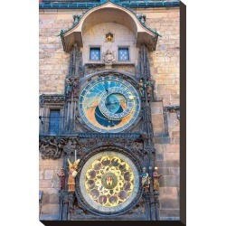 Stretched Canvas Print: Astronomical Clock in Prague: 15x10in found on Bargain Bro from Art.com for USD $72.20