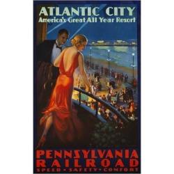 Giclee Print: Atlantic City Pennsylvania Railroad Poster: 24x16in