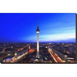 Stretched Canvas Print: Television Tower on Alexanderplatz Square at Dusk, Berlin, Germany: 20x29in found on Bargain Bro Philippines from Art.com for $122.00