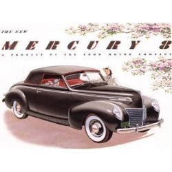 Premium Giclee Print: 1939 Mercury 8 Convertible: 9x12in found on Bargain Bro from Art.com for USD $25.08