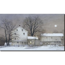 Stretched Canvas Print: Full Moon by Ray Hendershot: 28x48in found on Bargain Bro from Art.com for USD $106.40