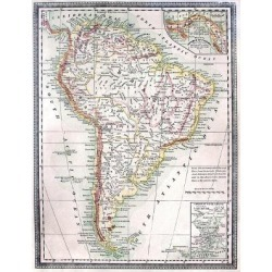 Art Print: Old Map Of South America by Tektite: 24x18in