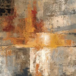 Art Print: Silver and Amber Crop by Silvia Vassileva: 16x16in