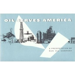 Giclee Print: Oil Serves America', Advertisement for the Sun Oil Company, C.1960: 24x16in