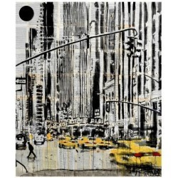 Giclee Print: Somewhere in New York City by Loui Jover: 22x19in