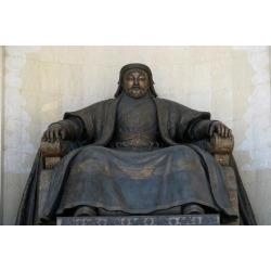 Giclee Print: Seated Statue of Chingis Khan at the Parliament Building in Ulan Bator, 2005: 18x12in