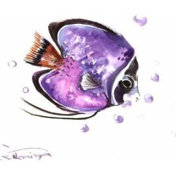 Art Print: Angelfish 4 by Suren Nersisyan: 18x24in found on Bargain Bro Philippines from Art.com for $20.00