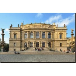 Stretched Canvas Print: Rudolfinum in the Old Town of Prague, Central Bohemia, Czech Republic: 29x44in found on Bargain Bro Philippines from Art.com for $200.00