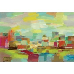 Art Print: Town by the River by Silvia Vassileva: 24x16in