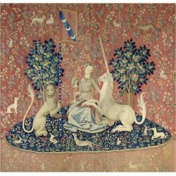 Giclee Print: The Lady and the Unicorn, Sight, Between 1484 and 1500: 16x16in
