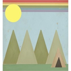 Giclee Print: Camping in the Woods by Tammy Kushnir: 24x24in found on Bargain Bro from Art.com for USD $19.00