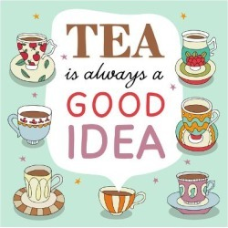 Art Print: Hand Drawn Vector Card Poster with Lettering and Tea Cups by redchocolate: 12x12in