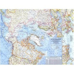 Art Print: 1965 Top of the World Map by National Geographic Maps: 24x18in