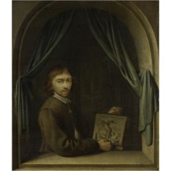 Art Print: Portrait of a Painter by Pieter Cornelisz van Egmondt, Anonymous: 24x18in