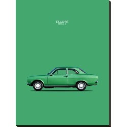 Stretched Canvas Print: Ford Escort Mk1 TwinCam 1968 by Mark Rogan: 40x30in found on Bargain Bro India from Art.com for $118.00