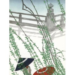 Giclee Print: Umbrellas In The Fog by Found Image Press: 16x12in