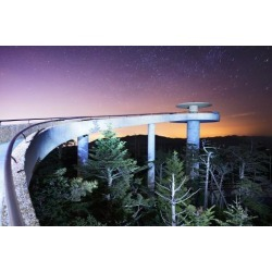 Photographic Print: The Observation Deck of Clingman's Dome in the Great Smoky Mountains. by SeanPavonePhoto: 24x16in