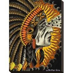 Stretched Canvas Print: Native American Figurative Canvas Art by Brother Greg: 14x10in found on Bargain Bro from Art.com for USD $68.40