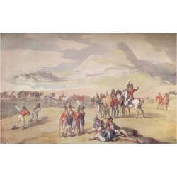 Giclee Print: Military Scene: Landing Troops and Guns, 1801. (1914) by Thomas Rowlandson: 18x12in