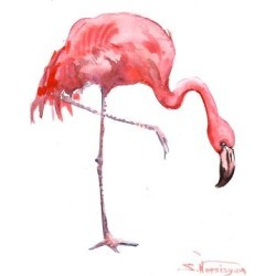 Giclee Print: Flamingo by Suren Nersisyan: 48x36in found on Bargain Bro India from Art.com for $135.00