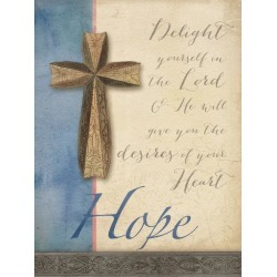 Art Print: Words For Worship Hope by Wild Apple Portfolio: 32x24in