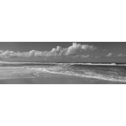 Photographic Print: Waves Crashing on the Beach, Sunset Beach, Oahu, Hawaii, USA: 42x14in