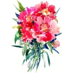 Art Print: Pink Peonies 2 by Suren Nersisyan: 16x12in found on Bargain Bro from Art.com for USD $15.20