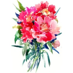 Giclee Print: Pink Peonies 2 by Suren Nersisyan: 24x18in found on Bargain Bro India from Art.com for $40.00