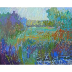 Art Print: Color Field No. 67 by Jane Schmidt: 24x18in found on Bargain Bro India from Art.com for $20.00