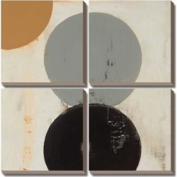 Canvas Art Set: Terra Circles II by David Skinner: 30x30in found on Bargain Bro India from Art.com for $218.00