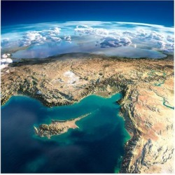 Art Print: Fragments of the Planet Earth. Fragments of the Planet Earth. Cyprus, Syria and Turkey by Antartis: 12x12in found on Bargain Bro India from Art.com for $15.00