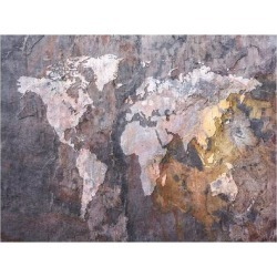 Art Print: World Map on Stone Background Art Print by Michael Tompsett: 24x18in found on Bargain Bro India from Art.com for $20.00