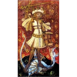 Giclee Print: St George Slaying the Dragon, Detail of the Rood Screen, St Helen's Church, Ranworth, Norfolk, Uk: 24x16in