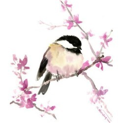 Giclee Print: Chickadee 3 by Suren Nersisyan: 16x12in found on Bargain Bro from Art.com for USD $25.08