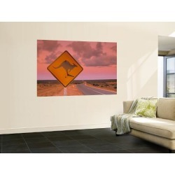 Wall Mural: Road Sign, Shark Bay National Park Wall Sticker by Doug Pearson: 72x48in