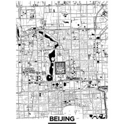 Stretched Canvas Print: Monochrome - Beijing by Olivier Gratton-Gagne: 48x36in found on Bargain Bro India from Art.com for $380.00