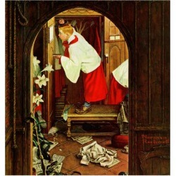 """Giclee Print: """"Choirboy"""", April 17,1954 Art Print by Norman Rockwell by Norman Rockwell: 16x16in"""