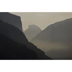 Photographic Print: California, Yosemite National Park, Artists Point, El Capitan, Sentinel Dome by Bernard Friel: 24x16in