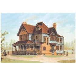 Art Print: Victorian House, No. 13: 18x24in
