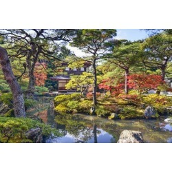 Photographic Print: Kyoto, Japan Fall Foliage at Ginkaku-Ji Temple of the Silver Pavilion. by SeanPavonePhoto: 24x16in