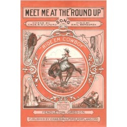 Art Print: Sheet Music for the Round Up Poster: 16x12in