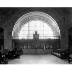 Giclee Print: Train Station with Vaulted Archway Art Print by Asahel Curtis: 24x18in