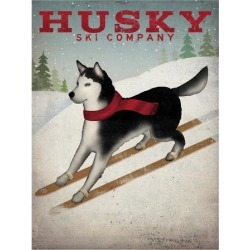 Art Print: Husky Ski Co by Wild Apple Portfolio: 24x18in