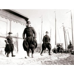 Photographic Print: Men in Traditional Dress, Marken Island, Netherlands, 1898 by James Batkin: 24x18in