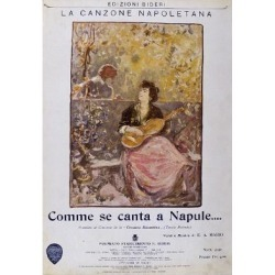 Giclee Print: Neapolitan Song Comme Se Canta a Napule, Cover of Piano Sheet Music: 24x16in